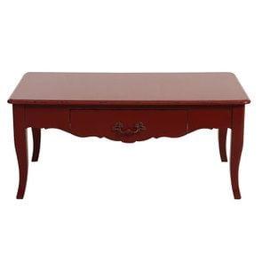 Table basse rectangulaire 1 tiroir rouge séville glossy