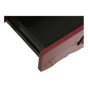 Table basse rectangulaire 1 tiroir lie de vin glossy - Visuel n°12