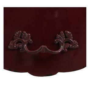 Table basse rectangulaire 1 tiroir lie de vin glossy - Visuel n°13