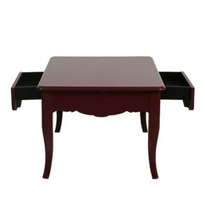 Table basse rectangulaire 1 tiroir lie de vin glossy - Visuel n°2