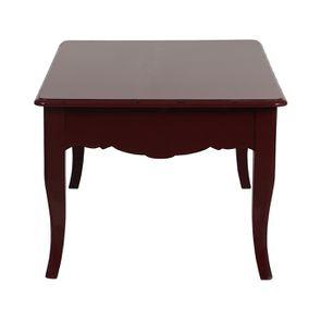 Table basse rectangulaire 1 tiroir lie de vin glossy - Visuel n°6