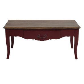 Table basse Louis XV lie de vin