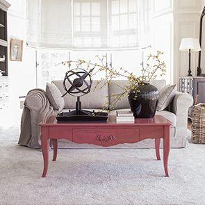 Table basse rectangulaire rose vieilli - Visuel n°2