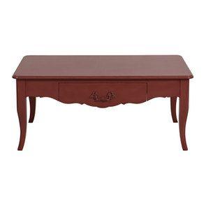 Table basse rectangulaire rose vieilli
