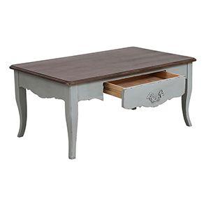Table basse rectangulaire verte sauge - Visuel n°5