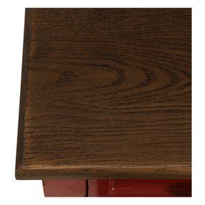 Petite commode 3 tiroirs en épicéa rouge Séville et plateau bois - Visuel n°9