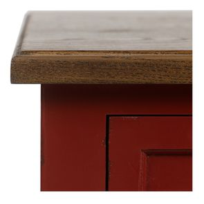 Petite commode 3 tiroirs en épicéa rouge Séville et plateau bois - Visuel n°10