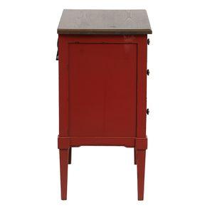 Petite commode 3 tiroirs en épicéa rouge Séville et plateau bois - Visuel n°5