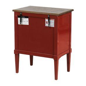 Petite commode 3 tiroirs en épicéa rouge Séville et plateau bois - Visuel n°6