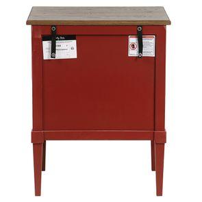 Petite commode 3 tiroirs en épicéa rouge Séville et plateau bois - Visuel n°7
