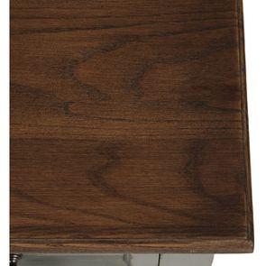 Petite commode 3 tiroirs vert de gris glossy - Visuel n°9