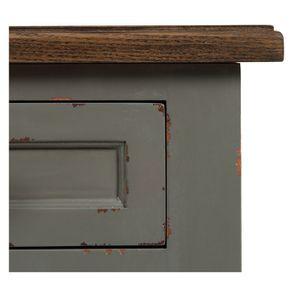 Petite commode 3 tiroirs vert de gris glossy - Visuel n°10