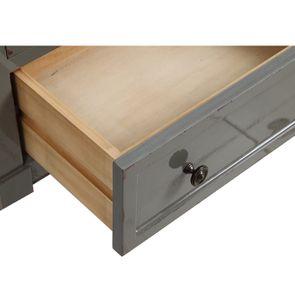 Petite commode 3 tiroirs vert de gris glossy - Visuel n°11