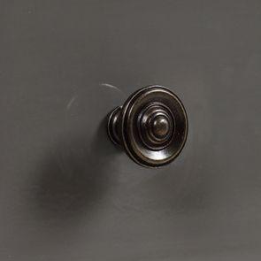 Petite commode 3 tiroirs vert de gris glossy - Visuel n°12