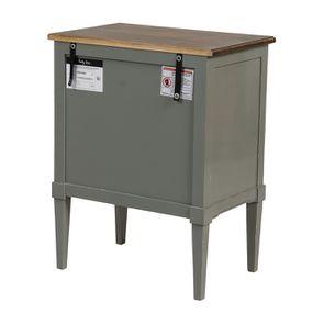 Petite commode 3 tiroirs vert de gris glossy - Visuel n°6