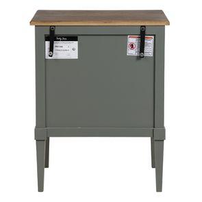 Petite commode 3 tiroirs vert de gris glossy - Visuel n°7