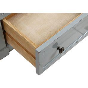 Petite commode 3 tiroirs vert sauge glossy - Visuel n°11
