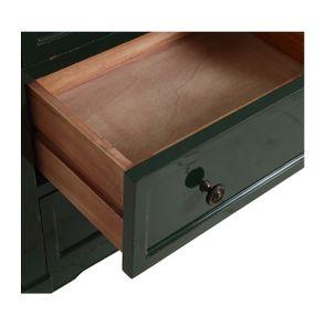 Petite commode 3 tiroirs en épicéa vert forêt - Visuel n°11