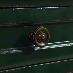 Petite commode 3 tiroirs en épicéa vert forêt - Visuel n°12