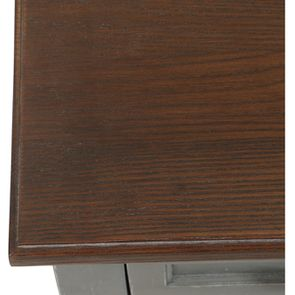 Petite commode 3 tiroirs en épicéa gris vieilli - Visuel n°9