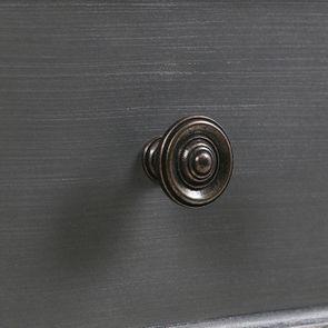 Petite commode 3 tiroirs en épicéa gris vieilli - Visuel n°11