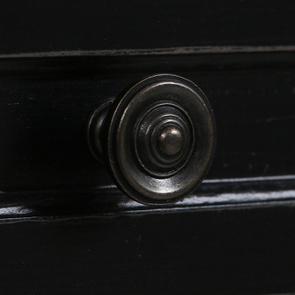 Petite commode 3 tiroirs en épicéa noire