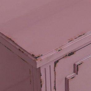 Commode sauteuse 2 tiroirs en épicéa lilas - Visuel n°9