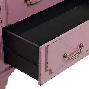 Commode sauteuse 2 tiroirs en épicéa lilas - Visuel n°10