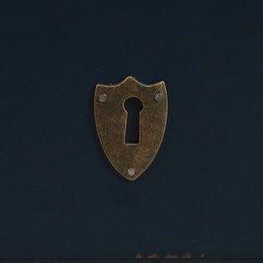Commode sauteuse 2 tiroirs en épicéa bleu indigo glossy - Visuel n°13