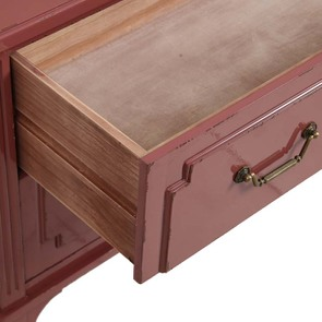Commode rose 2 tiroirs en pin - Visuel n°3