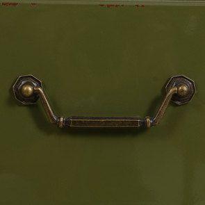 Commode sauteuse 2 tiroirs en épicéa vert olive - Visuel n°13