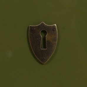 Commode sauteuse 2 tiroirs en épicéa vert olive - Visuel n°14