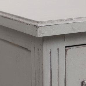 Commode sauteuse 2 tiroirs en épicéa gris perle - Visuel n°8