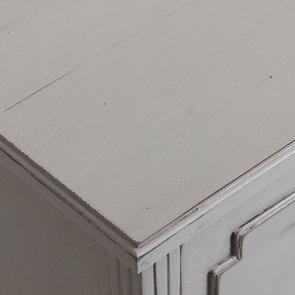 Commode sauteuse 2 tiroirs en épicéa gris perle - Visuel n°10