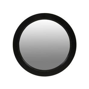 Miroir rond noir graphite en bois