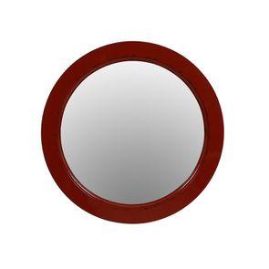 Miroir rond rouge séville en bois