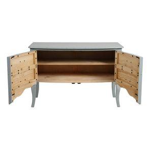 Commode 4 tiroirs vert sauge glossy - Visuel n°2