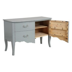 Commode 4 tiroirs vert sauge glossy - Visuel n°4