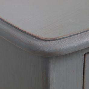 Commode 4 tiroirs nuage de bleu patiné - Visuel n°11