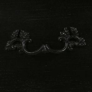 Commode 2 portes noire en épicéa - Visuel n°13