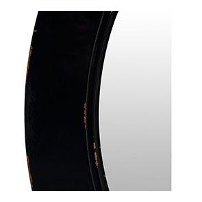 Miroir rond noir graphite en bois D75 cm