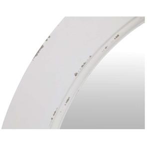 Grand miroir rond blanc en bois