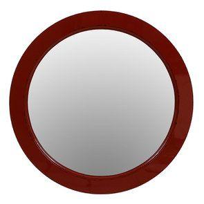 Miroir rond rouge séville en bois D75 cm