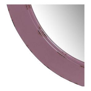 Miroir rond lilas en bois - Visuel n°6
