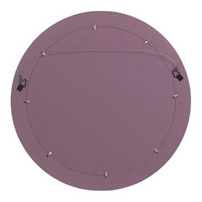 Miroir rond lilas en bois - Visuel n°4