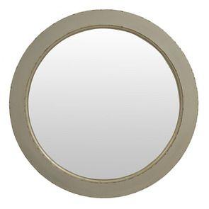 Miroir rond gris fumé en bois D75 cm