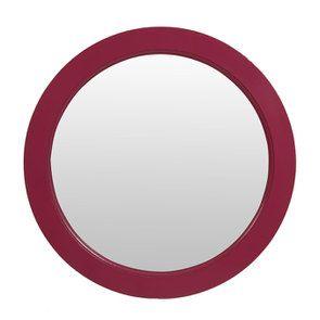 Miroir rond figue en bois D75 cm