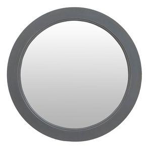 Miroir rond gris souris en bois