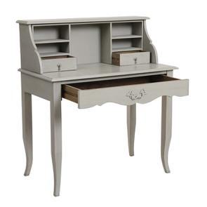 Secrétaire gris 3 tiroirs en pin - Visuel n°2