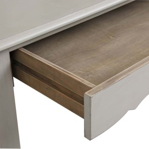 Secrétaire gris 3 tiroirs en pin - Visuel n°4